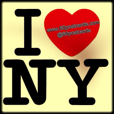 I Love New York with a 60 Postcards twist