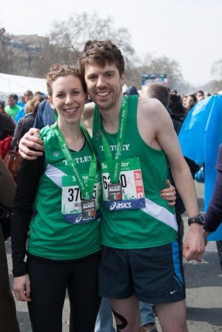 You'd never know that this was a pic of a couple at the END of the race!