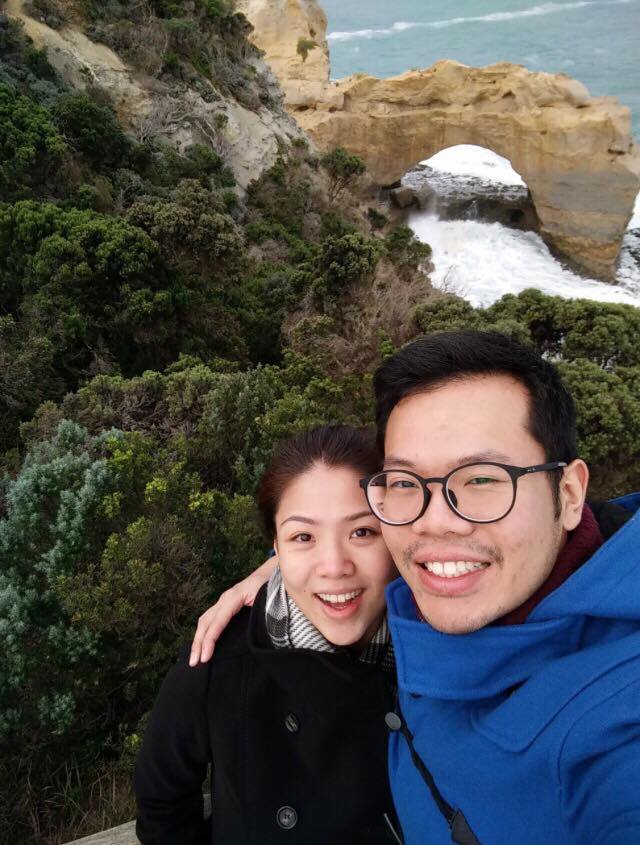 Sarah & SY on their trip to Melbourne