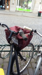Bicycle basket in Malmo, Sweden